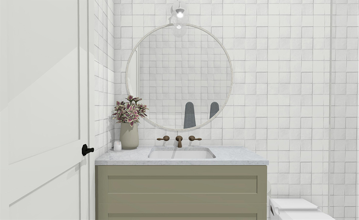 Week TwoGuest Bathroom Reveal. Designer Takes on The Block 2019