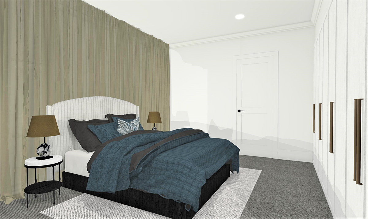 Week Five Guest Bedroom Reveal. Designer Takes on The Block 2019