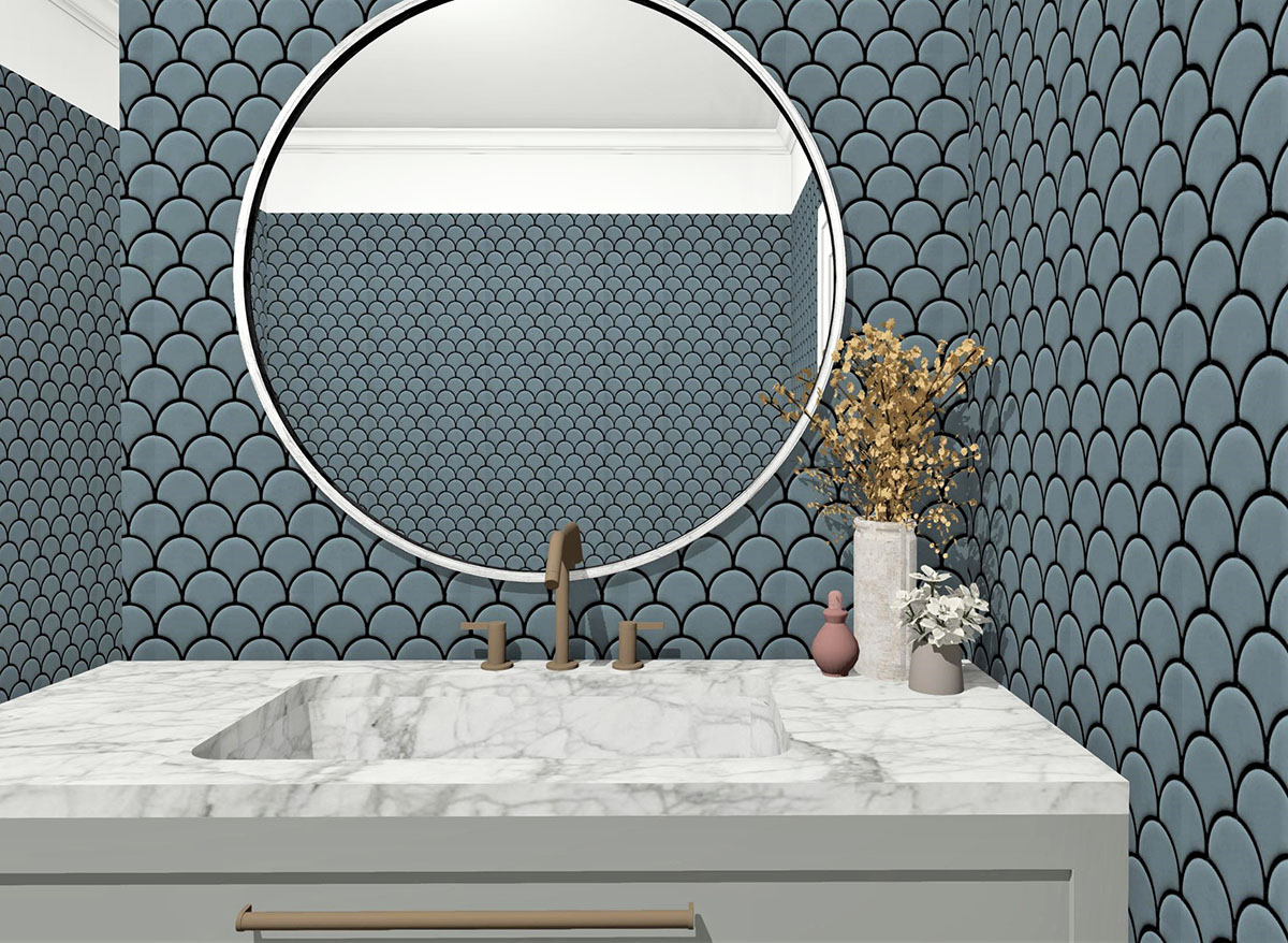 Week Four Main Bathroom Reveal. Designer Takes on The Block 2019