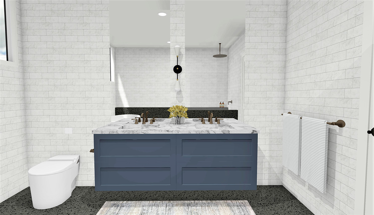 Week Six Master Ensuite Reveal. Designer Takes on The Block 2019